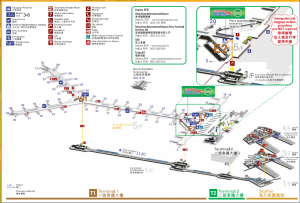 Hong Kong Airport Map (SkyPier)