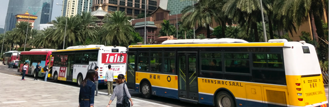 Macau Buses on Cotai Strip